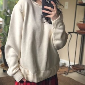 Cozy cream sweater
